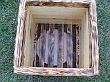 Кашпо, кадка, вазон деревянный для растений и деревьев (квадрат), фото 4