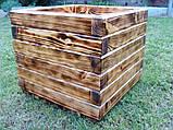Кашпо, кадка, вазон деревянный для растений и деревьев (квадрат), фото 6