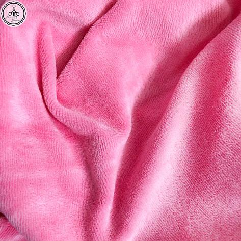 Велюр х/б ярко-розовый, ширина 180 см, фото 2