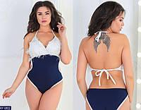 Модный женский  купальник из бифлекса батал с 48 по 58 размер