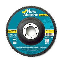 Круг лепестковый торцевой (КЛТ) 125х22,2 P60 т29 Novoabrasive Standard