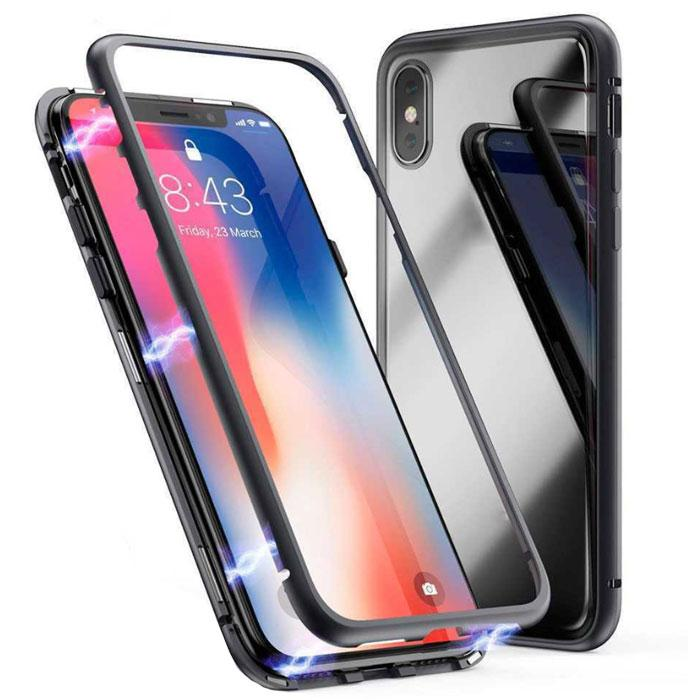 Металлический магнитный чехол Primo для Apple iPhone X / Xs - Clear