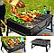 Складной BBQ гриль Mensory Grill Portable, 35 см длина, черный, фото 5