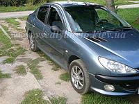 Дефлекторы окон на PEUGEOT 206 седан/хетчбек 5-дверка 2005/1998