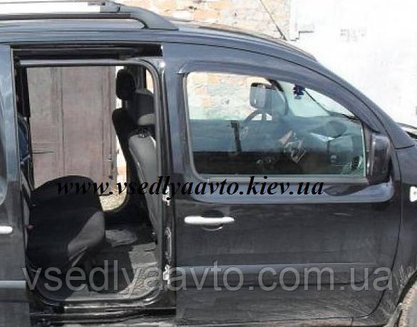 Дефлекторы окон на RENAULT Kangoo 3-дверка 2009
