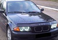 Дефлектор капота мухобойка BMW 3 серии (46 кузов) с 1998-2001 г.в.