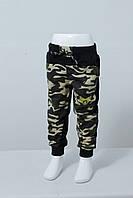Спортивные штаны детские для мальчиков камуфляжные 1-5 лет, бежевый цвет, фото 1