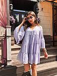 Женское легкое хлопковое платье свободного кроя (в расцветках), фото 2