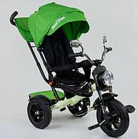 Велосипед 3-х колесный 4490 Best Trike, ПОВОРОТНОЕ СИДЕНИЕ, СКЛАДНОЙ РУЛЬ, ПУЛЬТ (свет,звук) + НАДУВНЫЕ КОЛЕСА