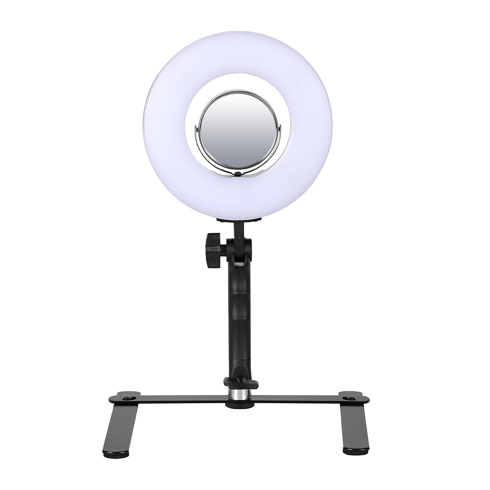Яркая кольцевая лампа MS-20L с зеркалом и подставкой