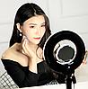 Яркая кольцевая лампа MS-20L с зеркалом и подставкой , фото 5