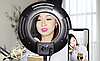 Яркая кольцевая лампа MS-20L с зеркалом и подставкой , фото 6