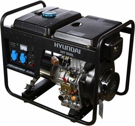 Генератор дизельный Hyundai DHY 6500L (Бесплатная доставка по Украине), фото 2