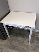 Стол кухонный Нордик Белый Раскладной 60(120)*80, фото 1