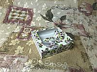 Коробка для пряников / 120х120х30 мм / печать-Весна / окно-Бабочка, фото 1