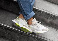 Кроссовки Adidas Originals Nite Jogger Boost 'White/Yellow', фото 1