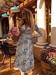 Женское летнее платье софт с принтами (2 цвета), фото 9