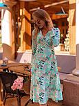 Женское летнее платье софт с принтами (2 цвета), фото 5