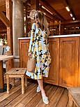 Женское летнее платье софт с принтами (2 цвета), фото 8