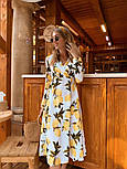 Женское летнее платье софт с принтами (2 цвета), фото 2