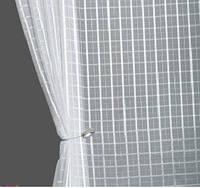 Тюль білі квадрати