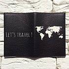 Обложка для паспорта Let's travel 2 (черный), фото 3