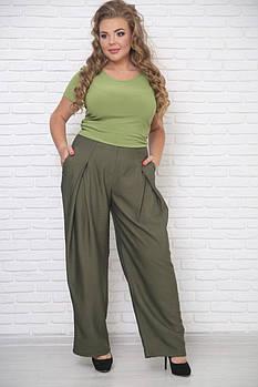 / Размер 48-72 / Женские брюки Орион цвет олива