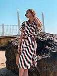 Женское летнее платье-рубашка в полоску (в расцветках), фото 6