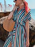 Женское летнее платье-рубашка в полоску (в расцветках), фото 10