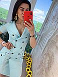 """Женское платье в стиле """"сафари"""" с поясом, фото 5"""
