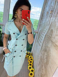 """Женское платье в стиле """"сафари"""" с поясом, фото 7"""
