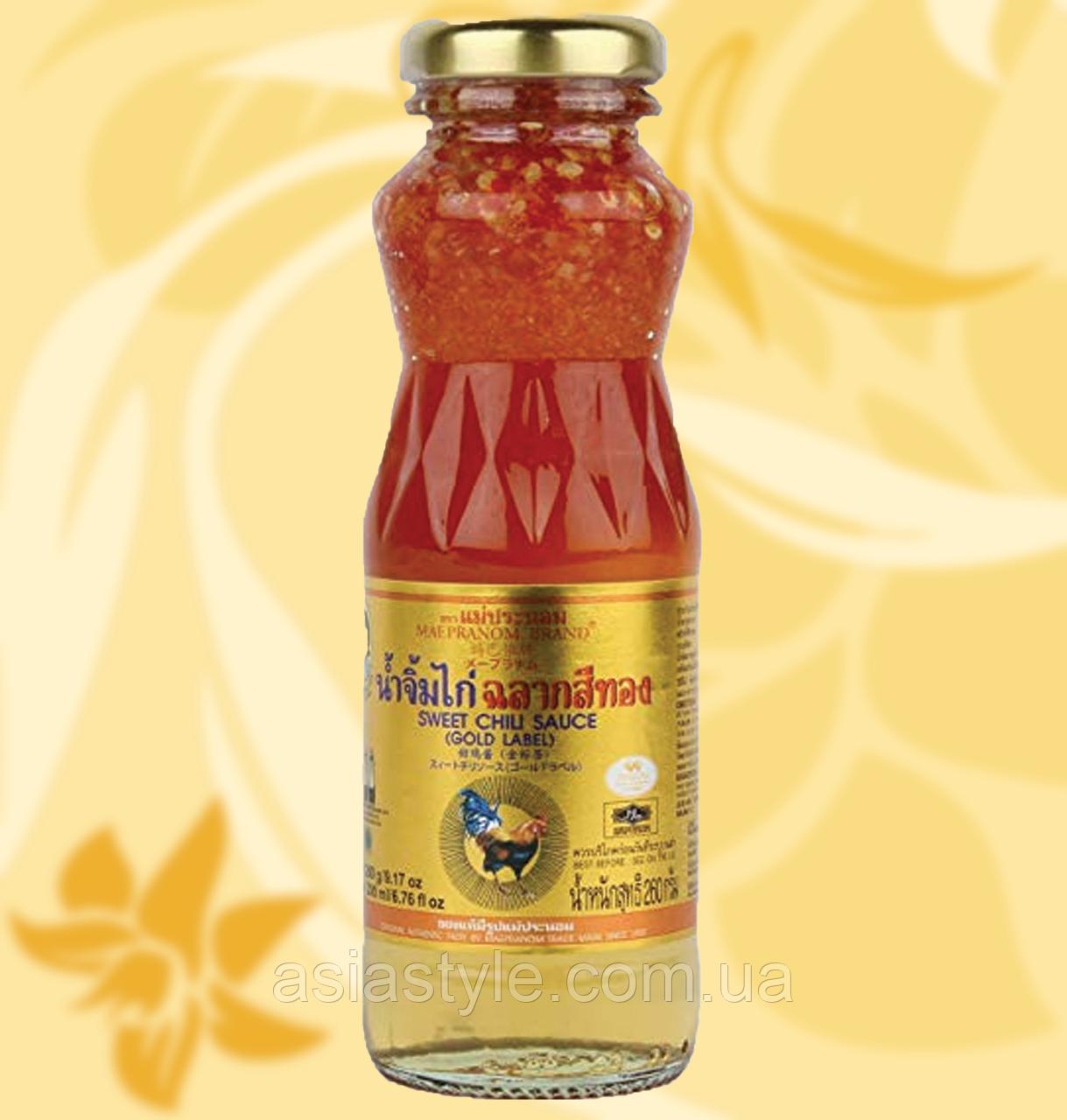Соус Maepranom Brand Преміум (Golden Label) солодкий чилі 200мл Фо