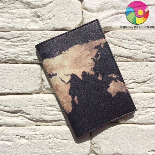 Обкладинка для паспорта Земля (чорний)