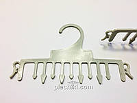 Пластмассовые вешалки плечики для нижнего белья серого цвета, длина 155 мм