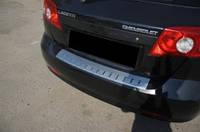 Накладка на задний бампер Chevrolet Lacetti с 2004 г. Хетчбек (Alu-frost, Польша)