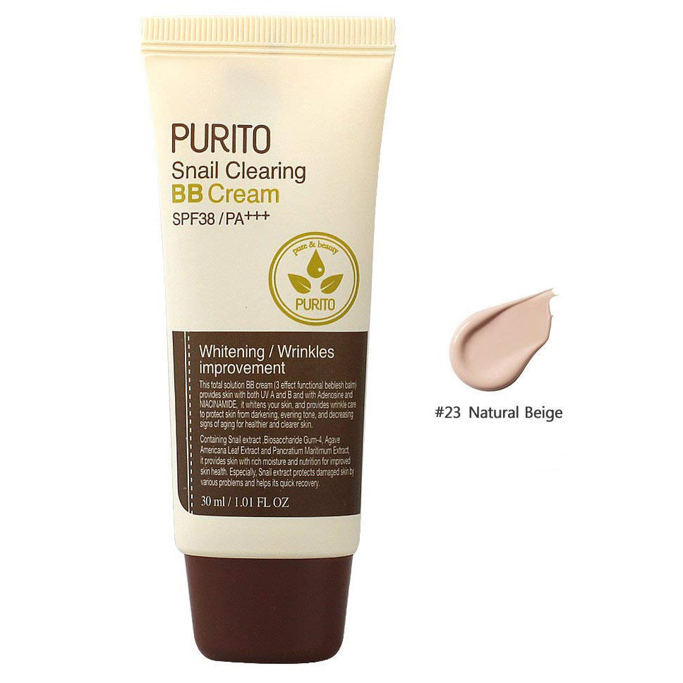 Purito  Snail Clearing BB Cream #23 Natural Beige (SPF38 PA+++)  30ml