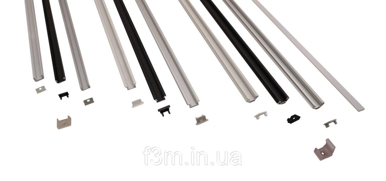 Клипса для накладного профиля алюминиевого для ленты LED, Grass Hopper