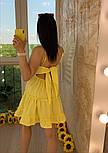 Женский легкий коттоновый сарафан на бретелях с кружевом макраме (в расцветках), фото 4