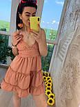 Женский легкий коттоновый сарафан на бретелях с кружевом макраме (в расцветках), фото 6