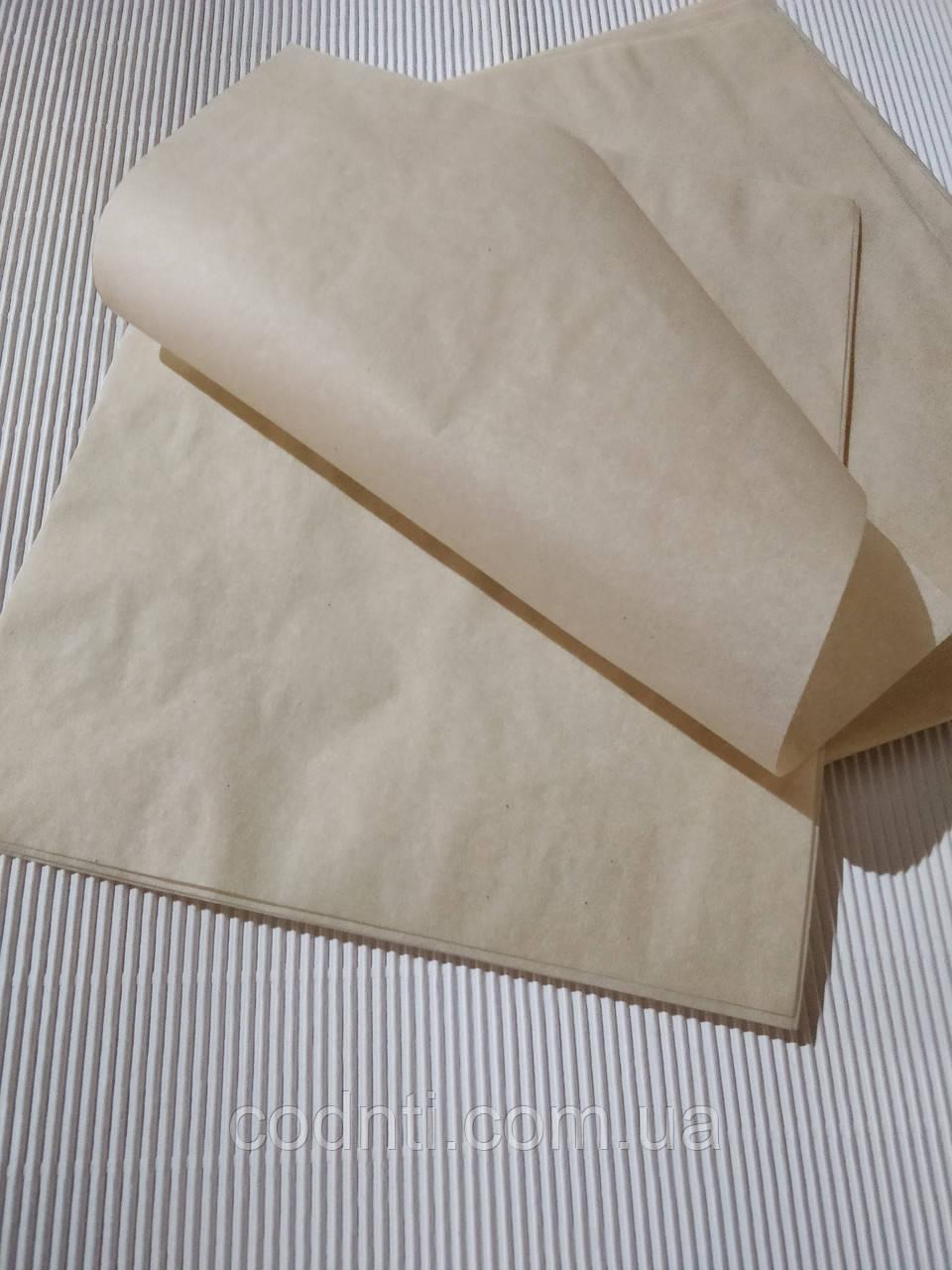 Пергаментная бумага для упаковки сыра и молочных продуктов, в листах 330мм х 330 мм