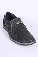 Летние мужские туфли из натуральной перфорированной кожи, фото 1