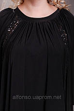 Вечернее платье свободного кроя асимметричное с вставками из пайеток №167, фото 3