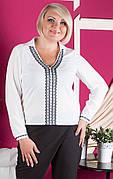 Стильная блуза c 50 по 60 размера в этническом стиле №405