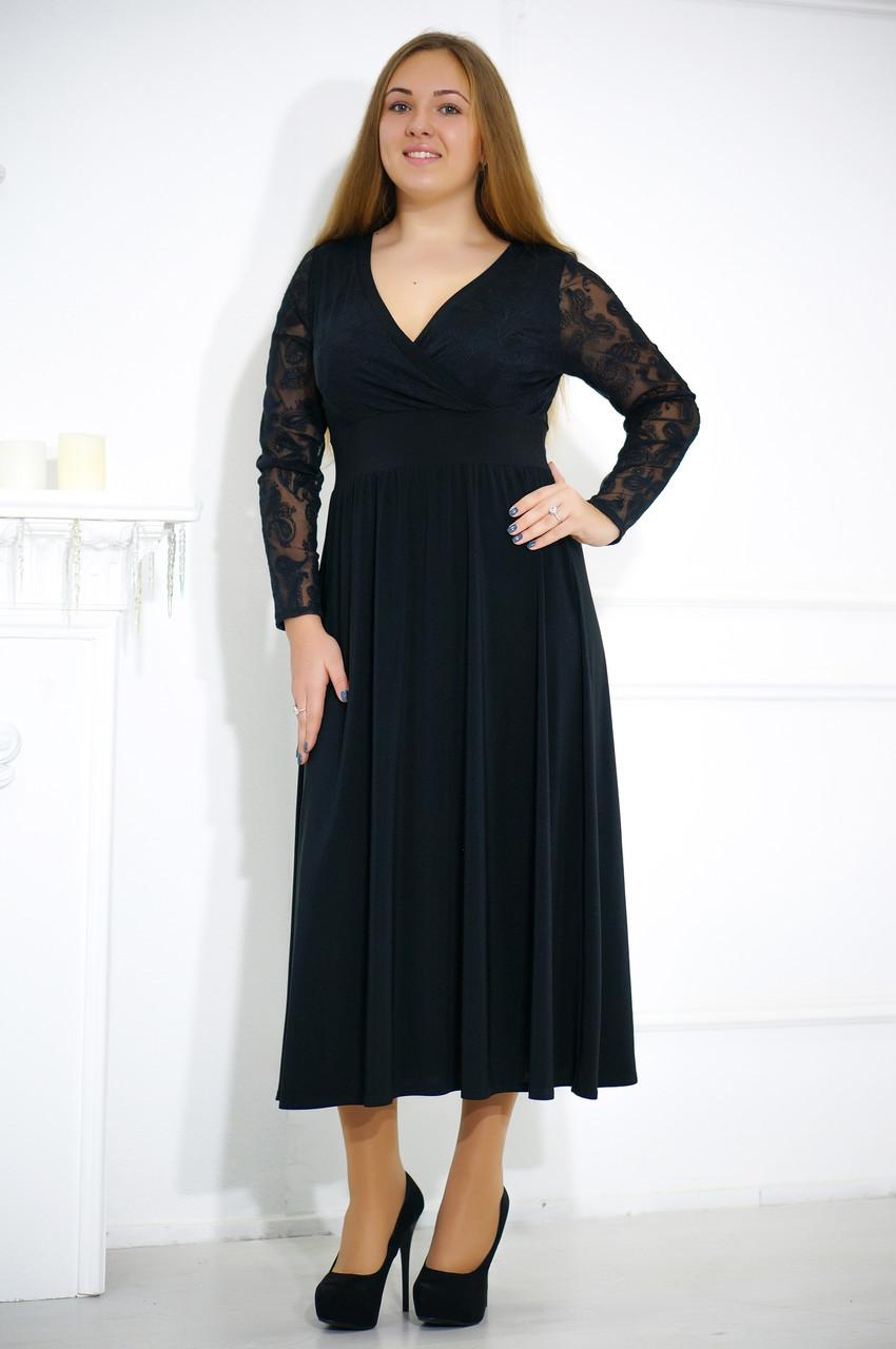 Стильное вечернее платье больших размеров №478