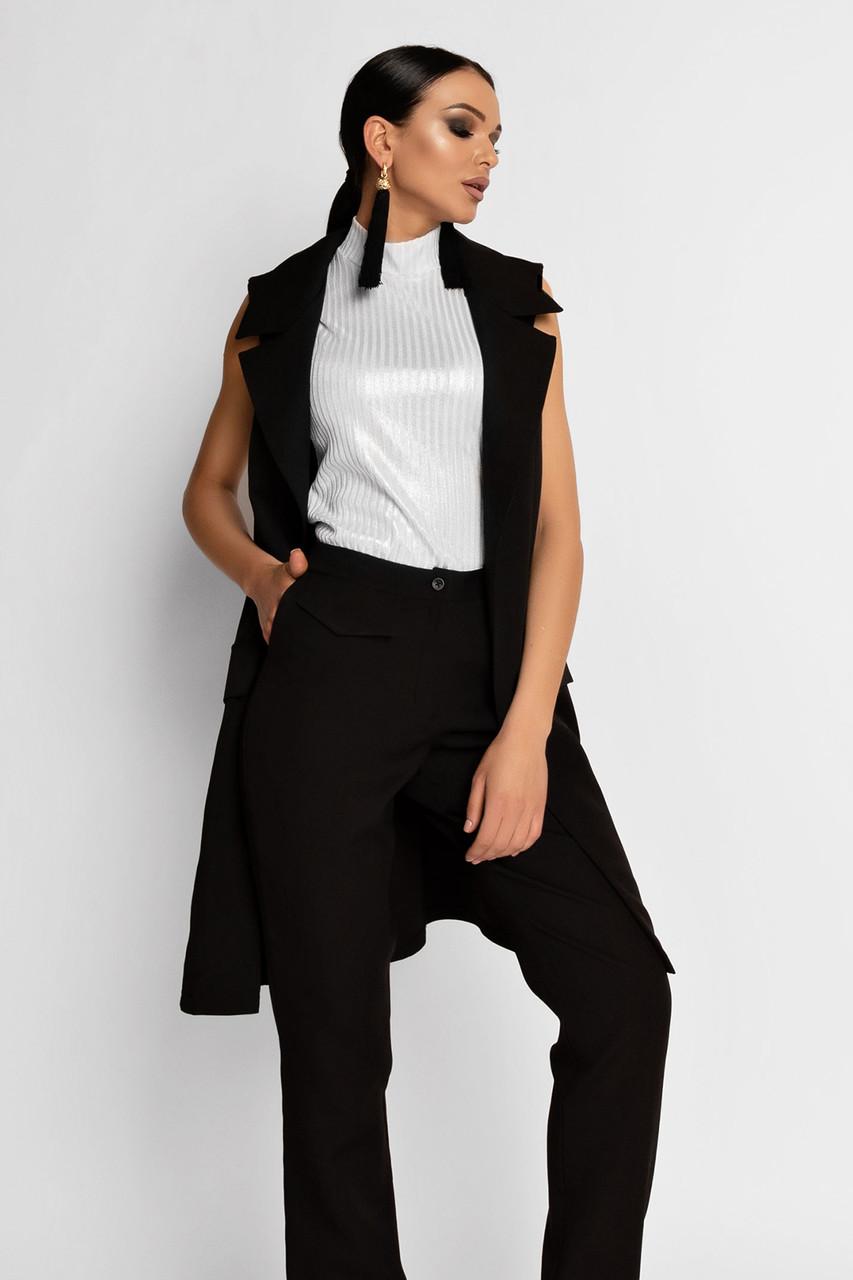 (S, M, L, XL) Жіночий чорний брючний костюм Endru