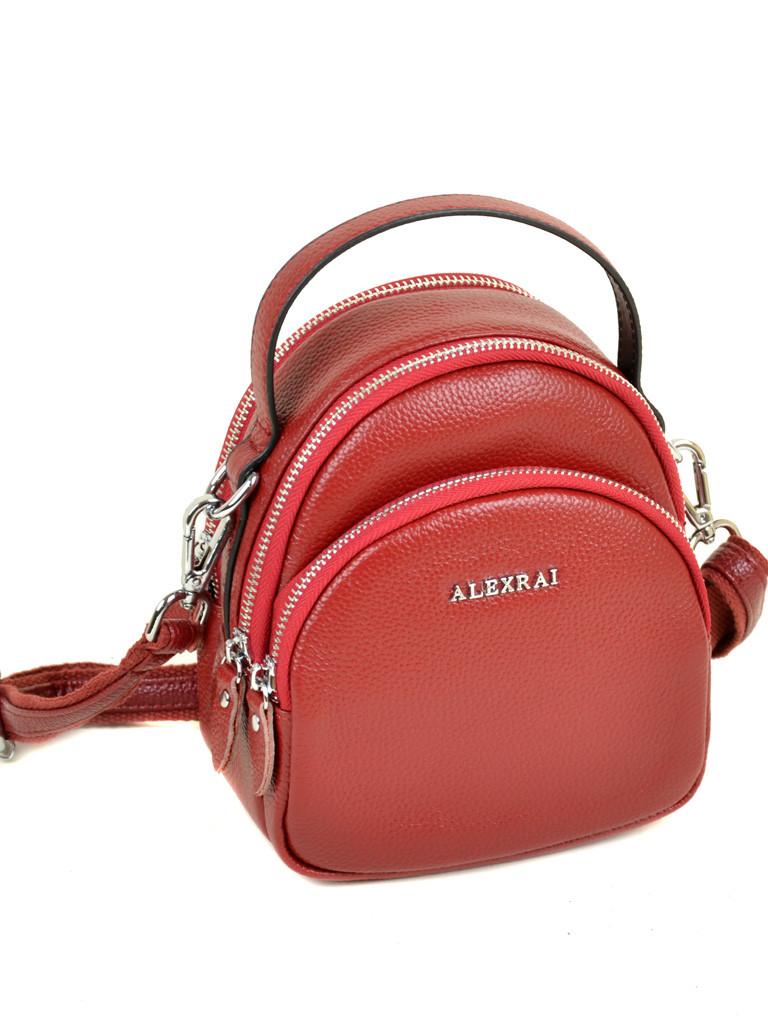 Кожаная женская сумочка красная Alex Rai