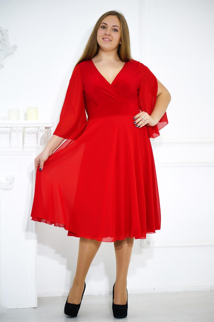 Элегантное вечернее платье больших размеров №480