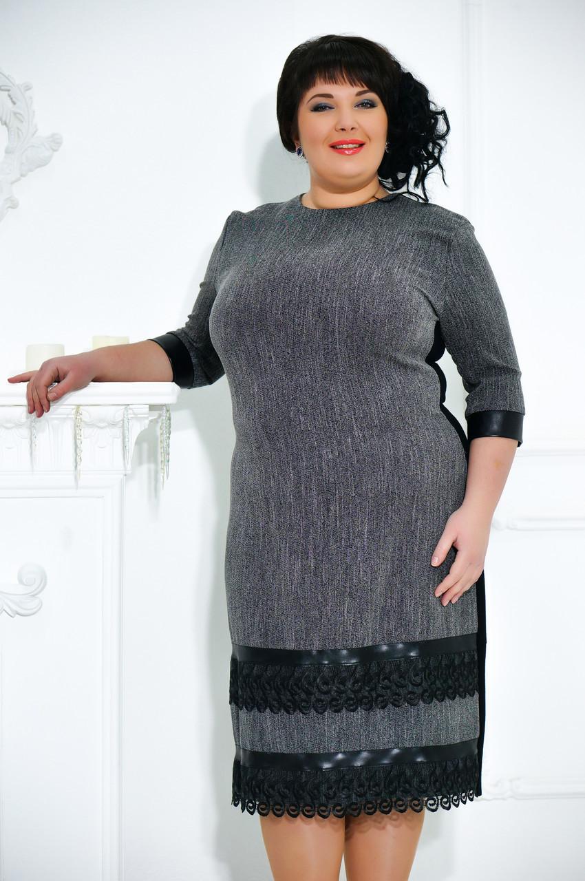 Классическое женское платье 64 размера №488