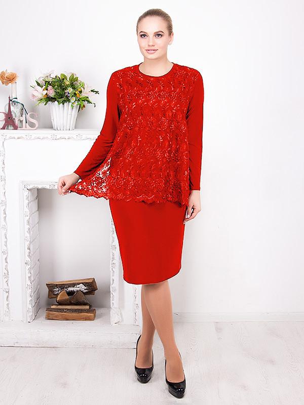 Романтичное вечернее платье с гипюром №510