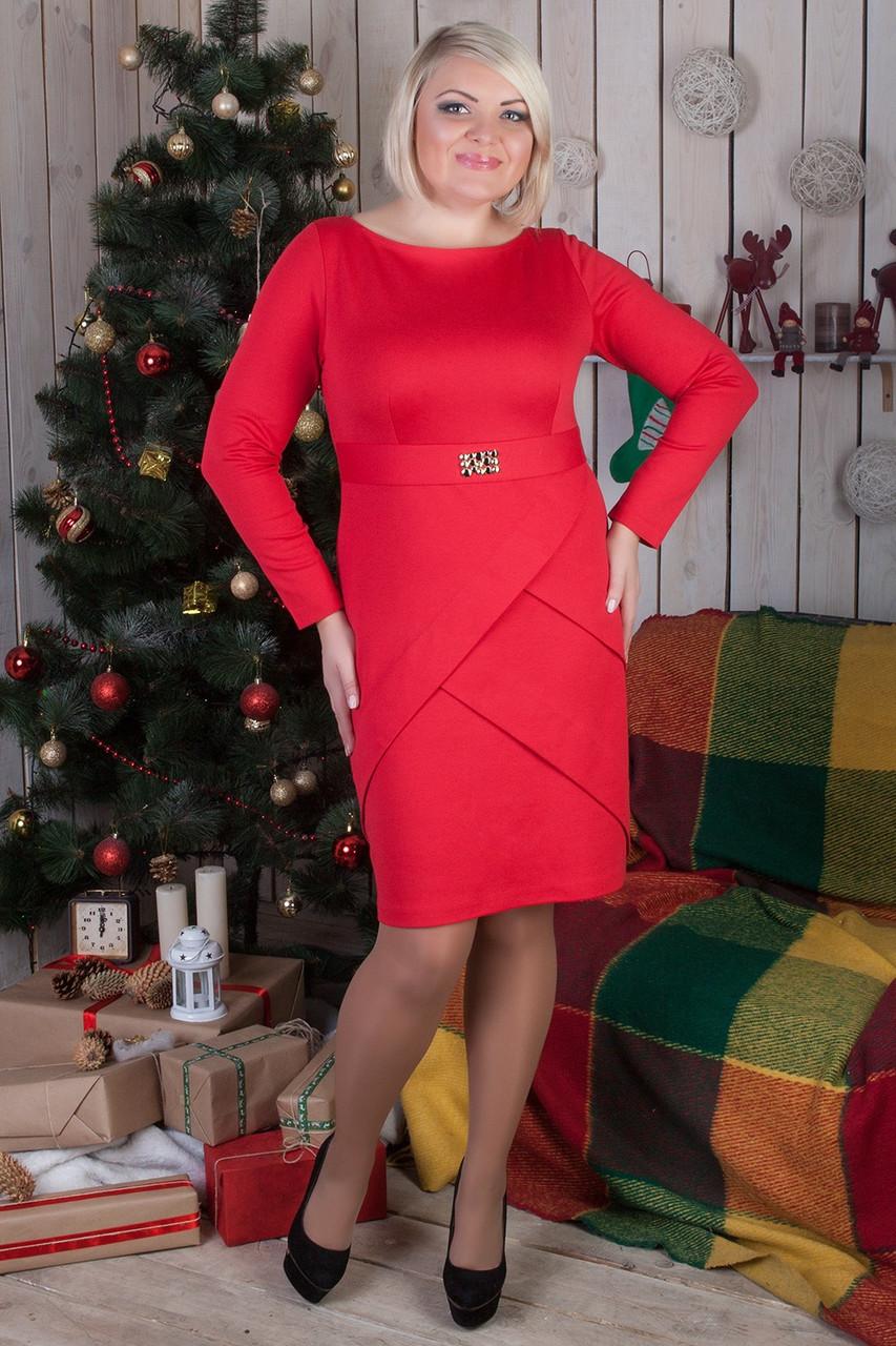 Повседневное женское платье большого размера №553